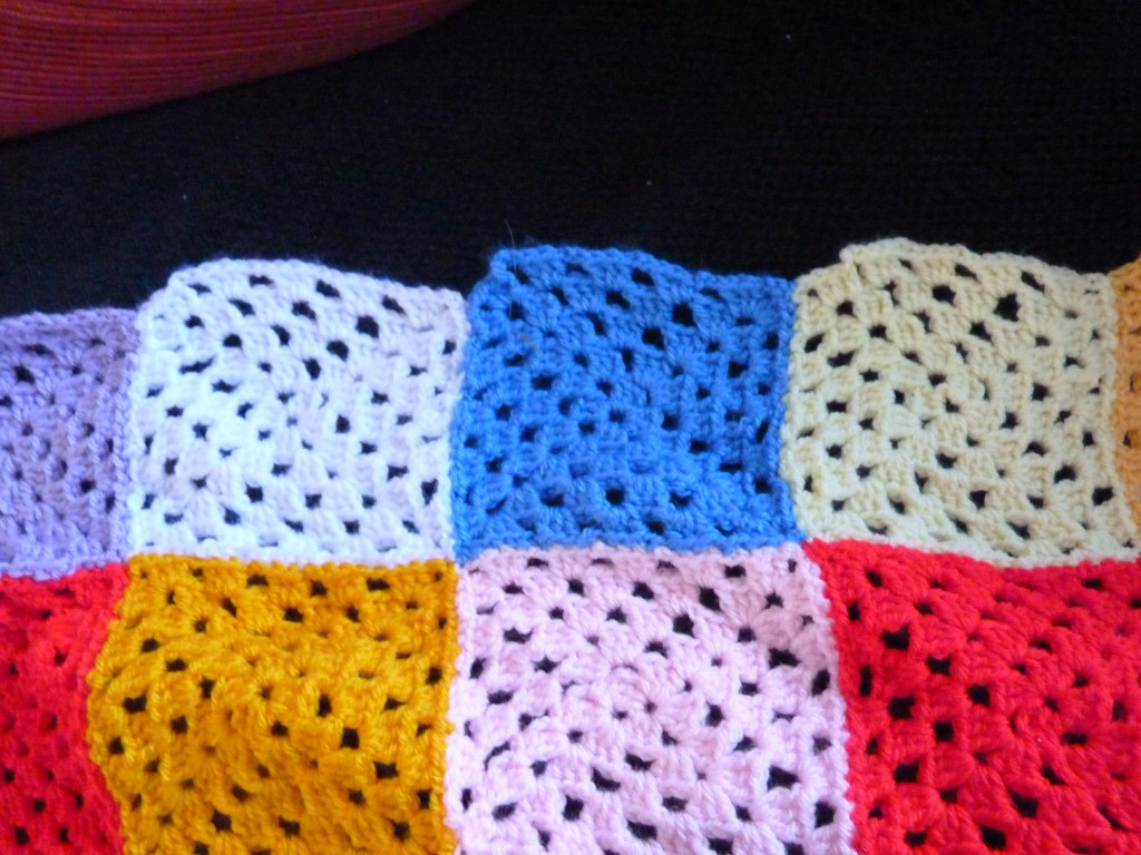 Crochet Uneven Edges : Frustrated with my Granny Square Blanket :( - Becoming a Stay at Home ...