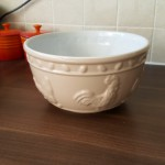 Baking with our new bowl from House of Fraser