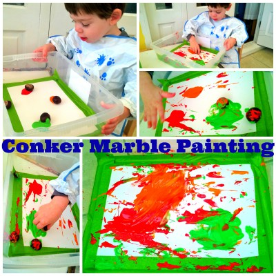 Conker Marble Painting