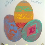 Easter Egg Potato Stamping.. or not! (34 mths)