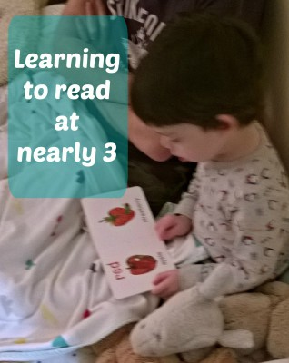 Learning to read at nearly 3