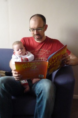 Storytime at 3 mths old