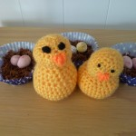 Easter Nests fun and crochet chicks