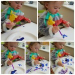 Little Miss's First Paintings – 17 mths old