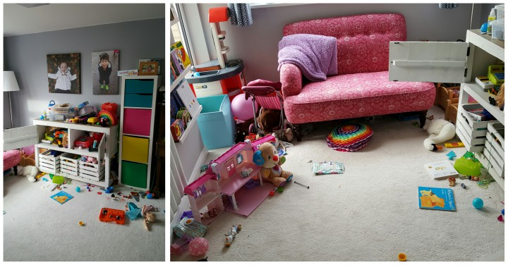 The playroom, after a bit of a tidy would you believe!