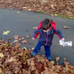 More Autumnal Fun and kicking up leaves – 17-18 months
