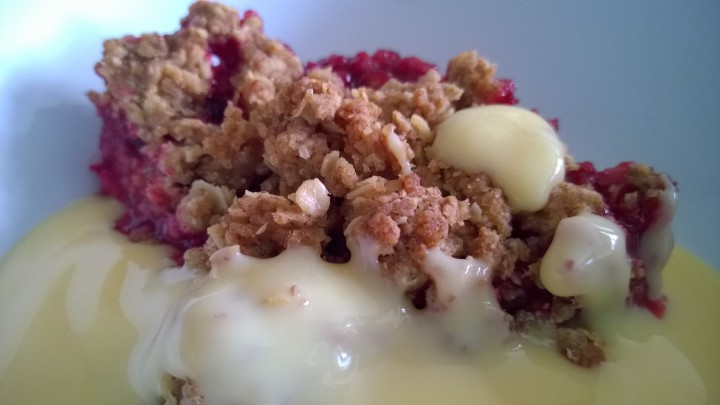 Plum & Blackberry Crumble