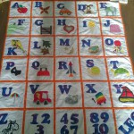 Letter learning blanket