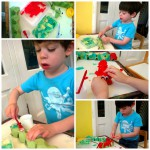 Making Egg Box Caterpillars and Butterfly Painting