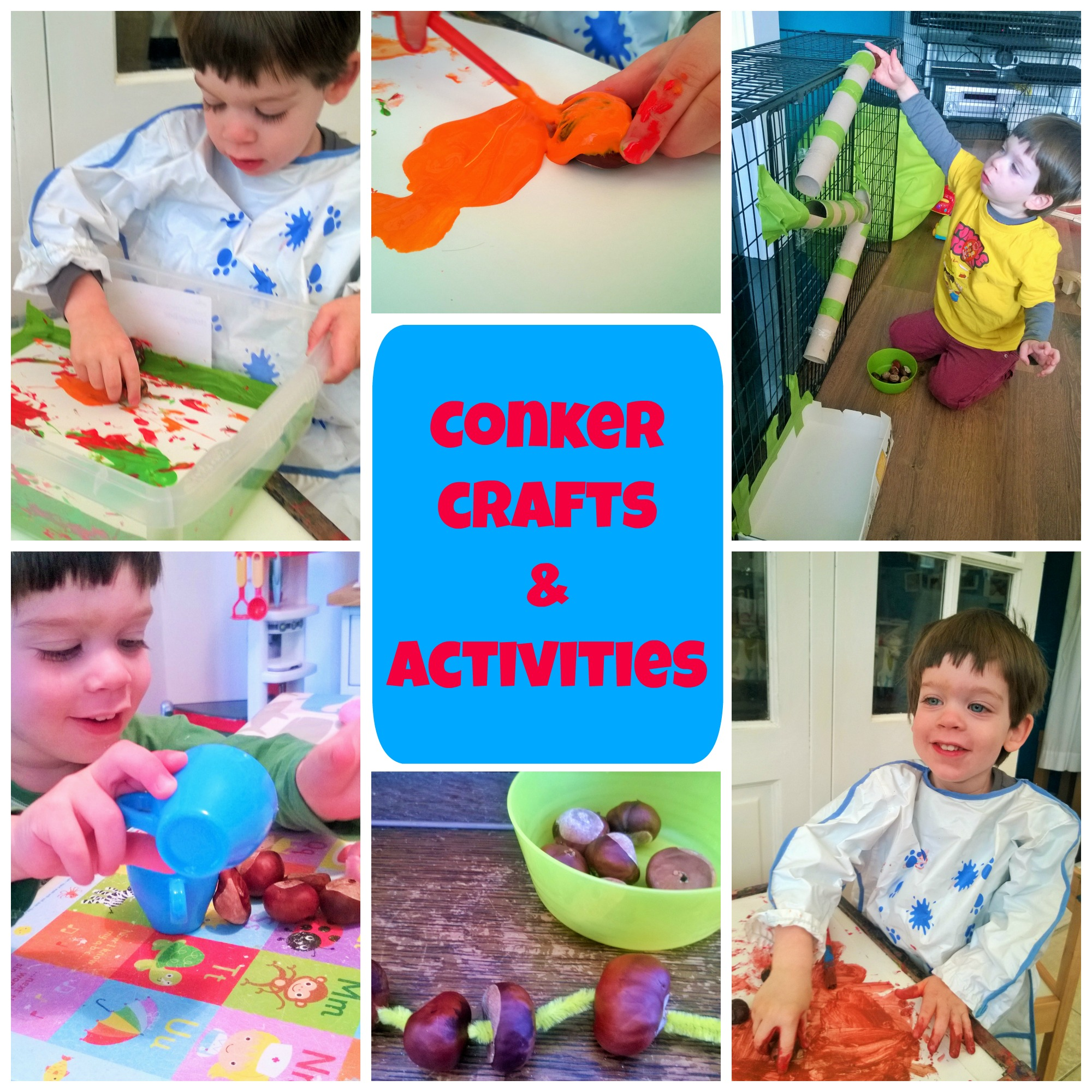 Conker Crafts and Activities for Toddlers Be ing a Stay at