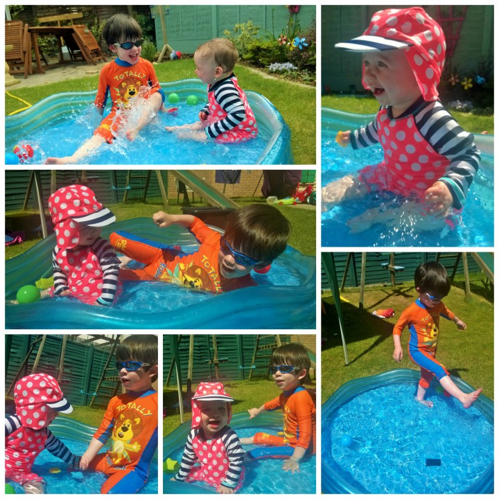 fun in th paddling pool