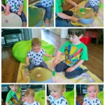 Making Music together – 8mths and 3yrs old