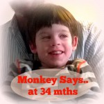 Monkey Says at 34 Months