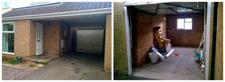 old garage and carport