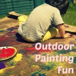 Outdoor Painting on Cardboard