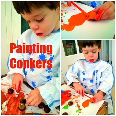 painting conkers