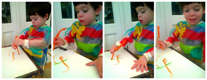 pipe cleaner painting
